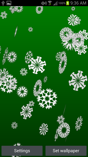 New Android app: Snowflakes live wallpaper